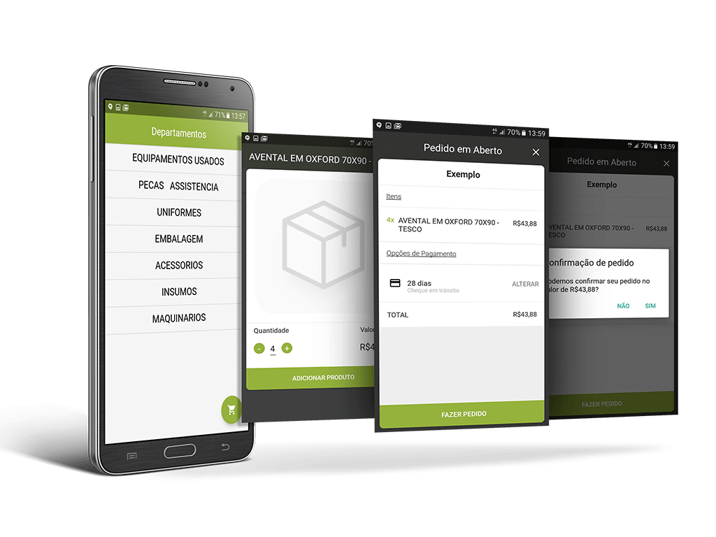 Aplicativo de e-commerce B2B para atacadistas distribuidores
